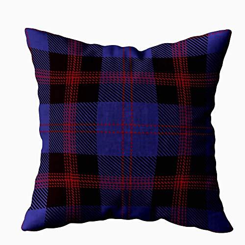 July kussenhoes tartan patroon achtergrond rood zwart blauw geruit flanel shirt modieus patroon