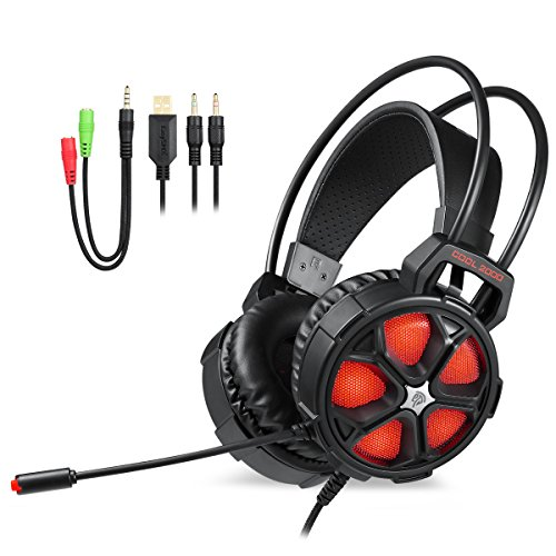 Cehensy Gaming Headset with Adjustable Mic Noise Cancellation Headphone Wired Earphones