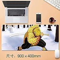 アニメ悪魔ブレイドマウスパッドマウスマットで縫製エッジ滑り止めラバーベースノートパソコンとPCホームオフィスオタクアニメファンのギフト用の大型マウスパッド (サイズ: 3mm)