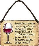 schilderkreis24 – Blechschild Lustiger Wein Spruch