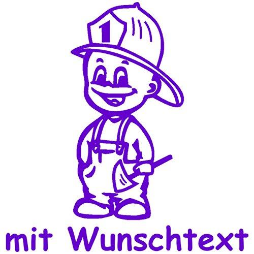 Babyaufkleber mit Name/Wunschtext - Motiv 396 (16 cm) - 20 Farben und 11 Schriftarten wählbar