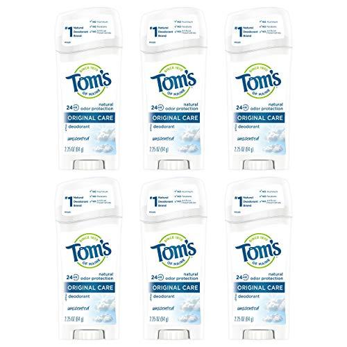 Tom's of Maine Original Care Deodorant, Natural Deodorant, Unscented, 13.5 Oz (Pack of 6)