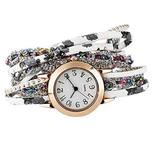 Jingyuu Armbanduhr, Armband, Vintage, Damen-Armbanduhr, geflochten, Armband aus Kunstleder, Armband, Kette, Schmuck, Mode-Accessoires, Geschenk zum Geburtstag