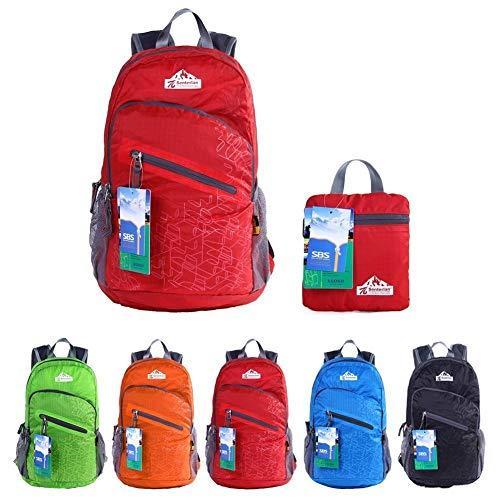 EGOGO Multifunzione 25L Zaino Trekking Pieghevole Peso Leggero Daypack per Sportivo Outdoor Campeggio Alpinismo Arrampicata Viaggi S2212 (Rosso)