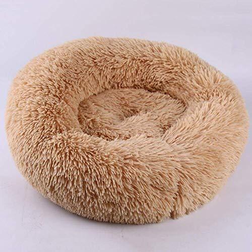 ZZQ Pluche hoed van synthetisch bont met cuddddler voor honden, middelgrote grootte, wasbaar, waterdicht
