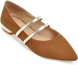 Veveca Women Glitter Strap Slip On Walking Dress Flat Pumps Shoes Classic Point Toe Ballet Flats