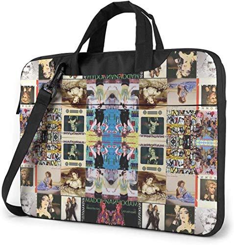 Madonna Collage Stoßfeste Laptop Schulter Menger Tasche Laptop-Tasche Ärmel Laptop Aktentasche Busin Handtasche