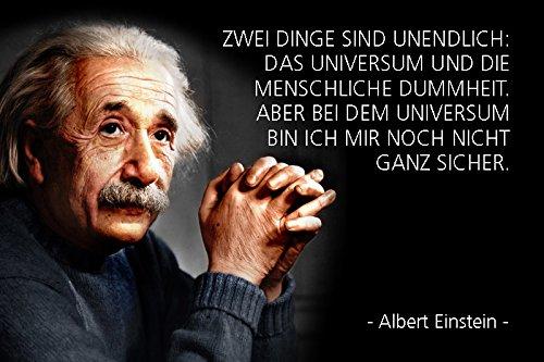 Schatzmix Blechschild Spruch Albert Einstein Zwei Dinge sind Metallschild Wanddeko 20x30 tin Sign