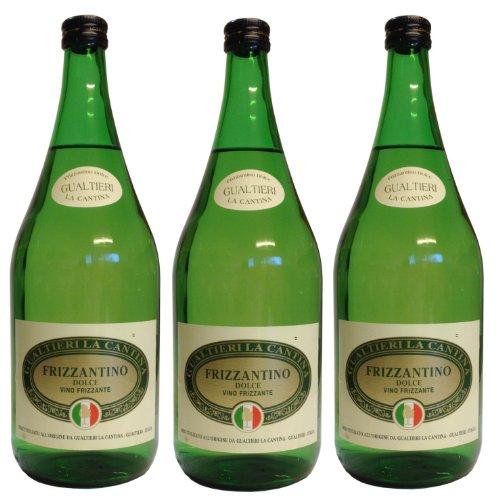 Frizzantino bianco dolce Gualtieri Dell`Emilia IGT 3 x 1,50 L - Vino Frizzante - Weißer Süßer Perlwein 7,5% Vol. aus Italien