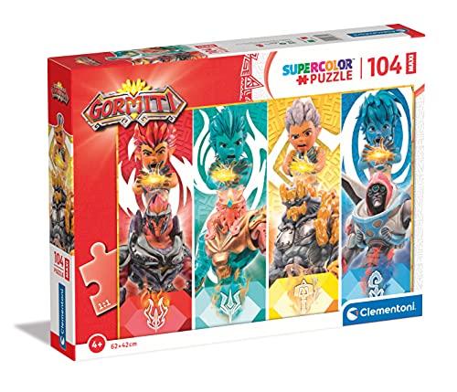 Clementoni Supercolor Gormiti 104 maxi pezzi-Made in Italy, bambini 4 anni, puzzle cartoni animati, Multicolore, 23760