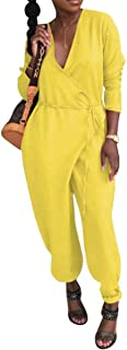 zaragfushfd Women Summer Casual Short Sleeve Loose Jumpsuit Rompers Long Pant Casual Outfits