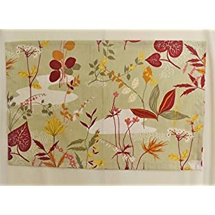 Customer reviews Tea towel kitchen dish towel decor with red floral pattern 100% cotton linen