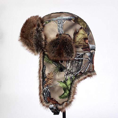 LYPPP SombreroNuevos Sombreros de Camuflaje de Cuero Artificial de Inv