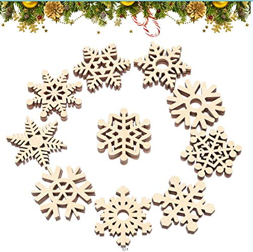 fiocco di neve Natalizie Artigianato, Ciondolo Albero di Natale, Legno Pendenti Natalizi Decorazioni , Legno di Natale Addobbi, Albero Fai da Te Ciondoli, Decorazioni Albero, Legno Decorazione