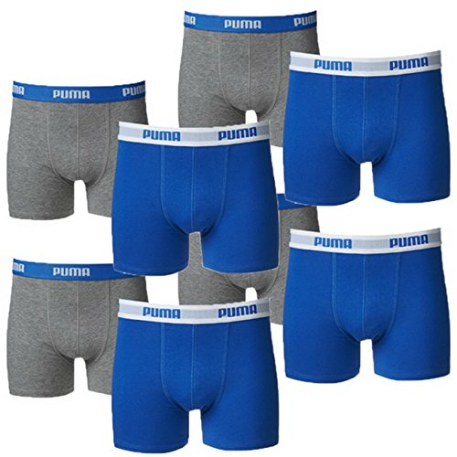 PUMA Junior Boys Boxershort Basic Boys Boxer 8er Pack, Farbe:Blue/Grey, Grösse:176