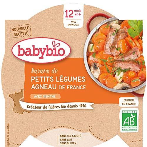 Babybio - Assiette Navarin de Petits Légumes Agneau Français 230 g - 12+ Mois - BIO - Lot de 5