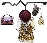Escudo Gimitunus estante de exhibición de la tienda de ropa Soporte sencillo Estantería moderna minimalistas sobre la pared colgante ropa que cuelga de la pared del estante (Color: Negro, Tamaño: 120