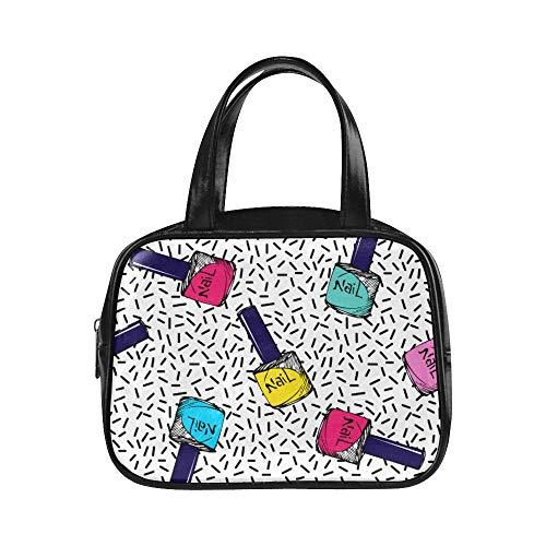 Tägliche Einkaufstasche Bunte Kunstmode Nagellack Mode Taschen Frauen Frau Handgepäck Pu Leder Top Griff Umhängetasche Mode Reisetaschen