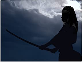 """JP London Solvent Free Art Print PAPL2465 Ready to Frame Poster Walking Dead Michonne Katana at 30"""" h by 40"""" w"""