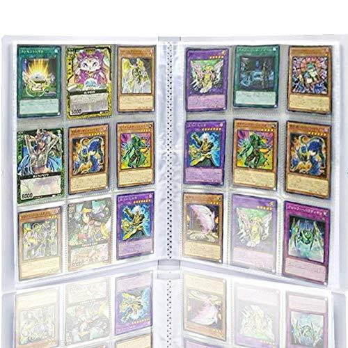 Pokemon Trading Cards Album,30 Paginas 270 Cuadricula para Cartas,Juegos de Cartas Álbum de Paquetes de Tarjetas Almacenamiento Colección páginas del Álbum para Carpetas de Anillas A4