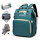 New 3-1 Foldable BabyTravel Bed Diaper Bag Backpack Portable Crib Nappy Changing Station Multi-Function Large-CapacityMommy Bag Crib Infant Sleeper for Newborn Baby with Mattress
