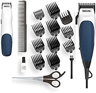 Wahl Blue Homecut Combo Hair Clipper & Bonus Battery Beard Trimmer
