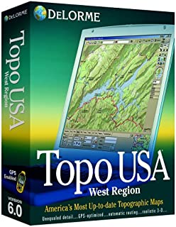 Delorme Topo USA Mapping Software 6.0 West Region