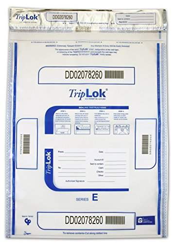 15 X 20 TripLok, Clear, 50 Bank Deposit Bags