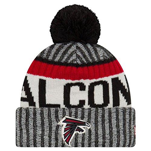 New Era NFL17 Sport Knit Bommelmütze Atlanta Falcons Schwarz, Size:ONE Size