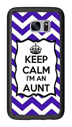 Chevron Royal Blue Keep Calm Im an Aunt for Samsung Galaxy S7 G930 Case Cover by Atomic Market