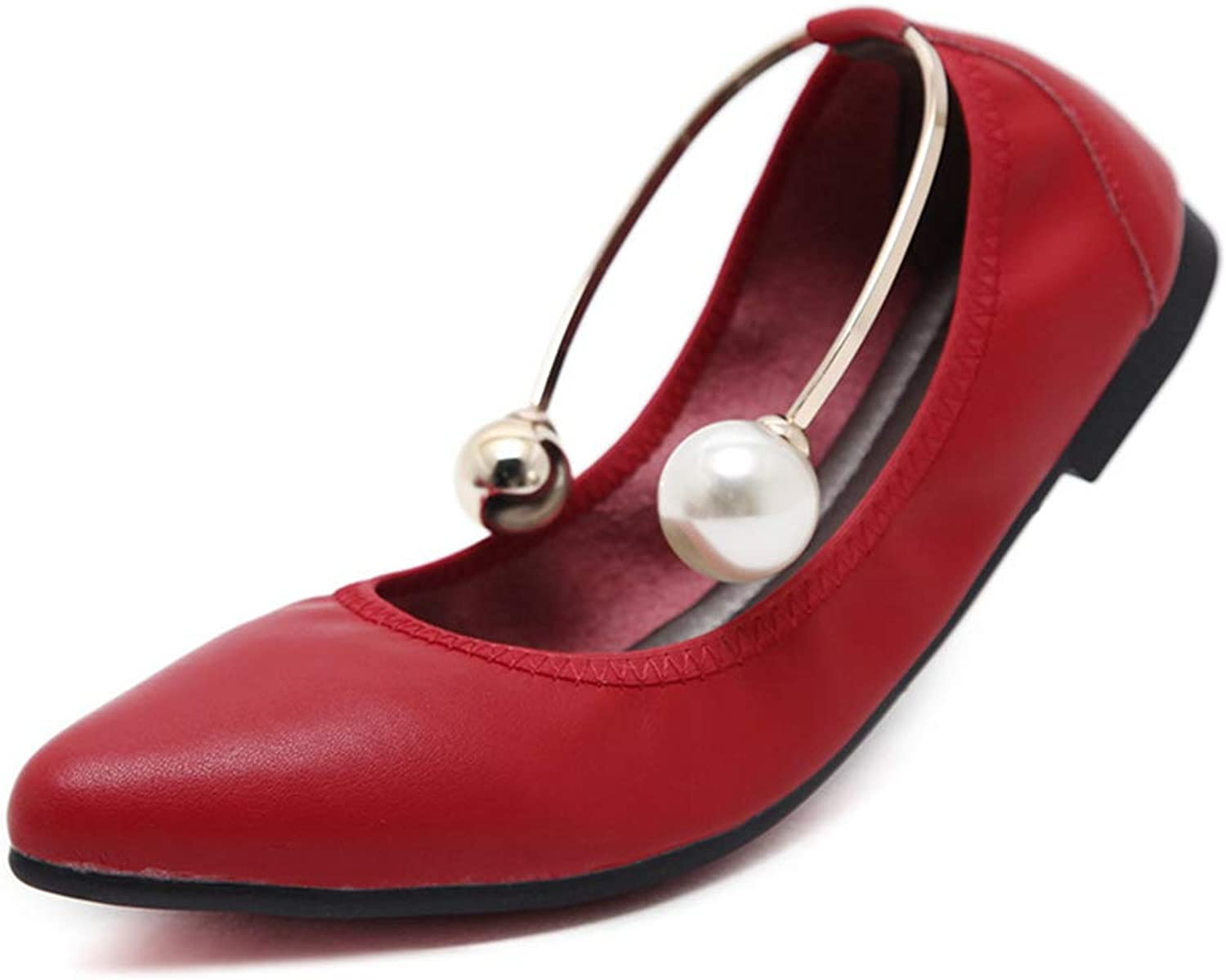 Women's Casual Soft Ballet Flats Breathable Walking shoes Stylish Pointy Head Slip-on Loafers