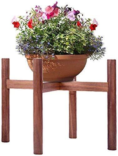 Nuokix Soporte de la Planta de Madera, Flor de Interior/Exterior Pot Soportes, Moderno Tiesto sostenedor del Tiesto Rack for casa, jardín, Patio Soporte de Flores (Color: Nogal Color, tamaño: A) Pat