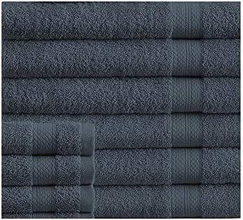 Affinity Linens Luxury 100% Plush Cotton 24 Piece Bath Towel Set