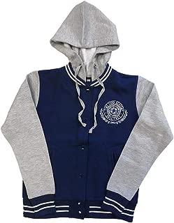 Doctor Who Junior Time Lord Academy Gallifreyan Full Zip Hoodie 2XL Heather/Navy