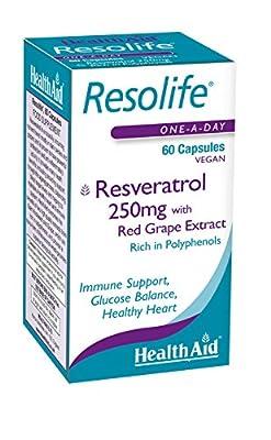 HealthAid Resolife Resveratrol 250 mg - 60 Vegan Capsules