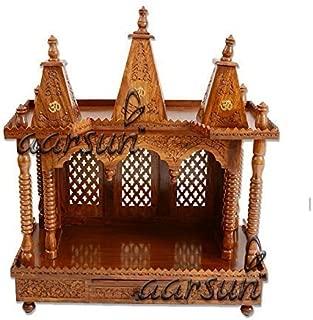 Aarsun Wooden Temple Folding Home Mandir Open Floor Standing DIY