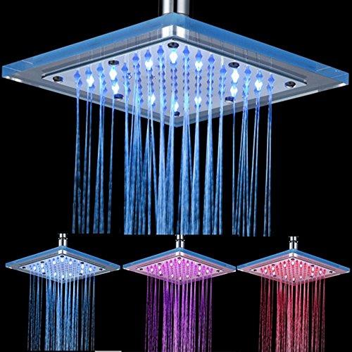 Rmckuva Einbauduschköpfe Moderne Regen Duschköpfe Platz Luxuriöse Top Spray 20 Cm Led Showerhead Wasserkraft Acryl Messing