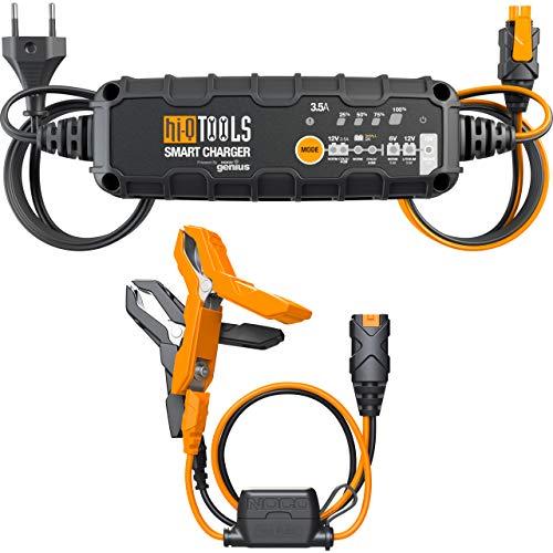 Hi-Q Tools KFZ Ladegerät Autobatterie Auto Motorrad Ladegerät Batterieladegerät PM3500, 6/12V 3,5A, für Blei-Säure+Lithium, Multipurpose, Ganzjährig, Kunststoff