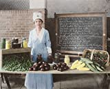 Woman wearing the official badge and uniform of the US Food Administration 1917 Poster Print by Stocktrek Images (34 x 22)