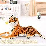 WLYY 30-120 cm Tigre Blanco Gigante de Peluche de Juguete bebé Encantador de Gran tamaño Tigre muñeca de Peluche Almohada Suave niños 75 cm marrón