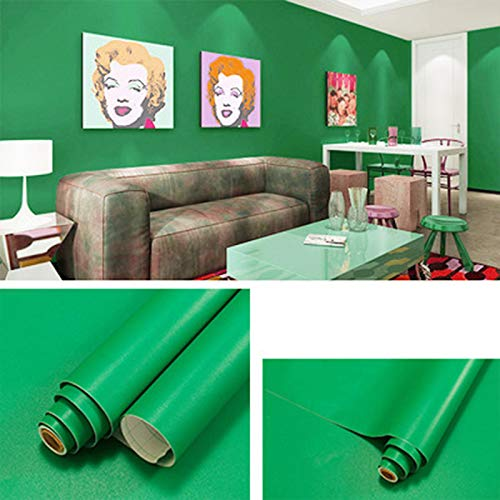 Ice-Beaut Papel De Pared Mate Autoadhesivo Impermeable PVC Dormitorio Dormitorio Color SóLido Pegatinas De Pared De Oficina DIY Papel Tapiz para HabitacióN De Chico Darkgreen