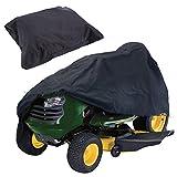 芝刈り機用カバー、弾性裾コード付き210Dオックスフォード布芝生用トラクターカバー、屋外ガーデンタークター用防塵芝刈り機用カバー(245x50x140cm,Black)