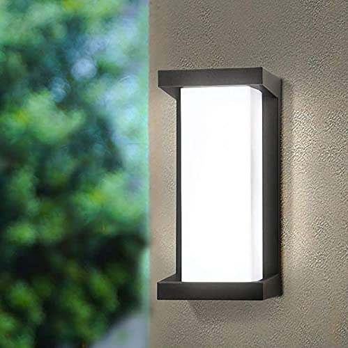 LED Wandleuchte IP65 Wasserdichte 18W Warmweiß 3000K Aluminium Rechteck Außenwandleuchte LED Aussen Aussenleuchte Außenlampe für Garten Front Badezimmer Veranda Garage Schlafzimmer Wohnzimmer Flur
