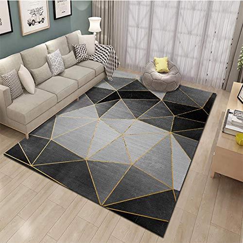 HXJHWB alfombras Salon con Bases Antideslizantes decoración -Alfombra de Pelo Corto Rectangular bellamente Impresa Alfombra de Sala de Estar de Dormitorio de oficina-120 cm x 160 cm