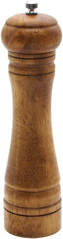 L molinillo de pimienta de cabrestante de precisi/ón YANQIN Molinillo de pimienta molinillo de pimienta ajustable de madera Molinillo de especias para uso profesional y dom/éstico