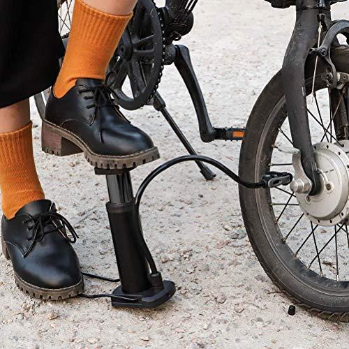 ELOKI Mini Bike Pump, Bike Pump Lightweight Bicycle Foot Activated Floor Pump Compatible with Presta and Schrader Valve for Road Bike Mountain Bike Balls Balloons