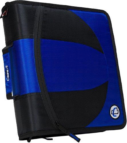 Case-it 2-in-1 Zipper D-Ring Binder, Blue (DUAL-101-BLU)
