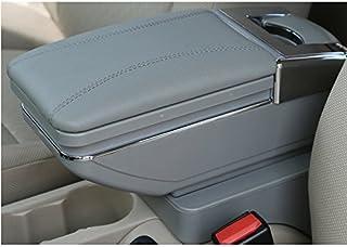 Copri bracciolo e portachiavi per auto in pelle PU universale AFUNTA compatibile con la maggior parte delle auto colore nero