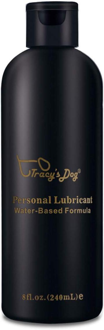 Tracy's Dog Lubricante Intimo a Base de Agua, 100% natural sin fragancia, colorantes ni agentes irritantes - 240 ml