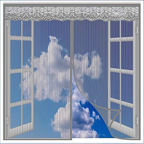 Mosquitera para Ventana 70x120cm Cierre Automático Mosquitera Ventana Protección contra Insectos para Todo Tipo de Ventanas, Gris A